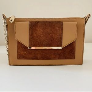 FREE with purchase DKNY leather crossbody purse.